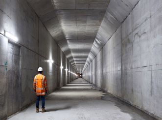 A section of the CRL tunnel under Albert Street in Auckland's CBD