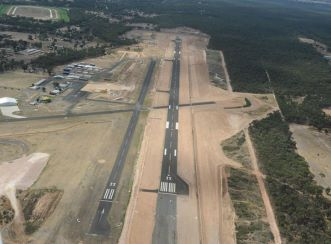 The redevelopment of Bendigo Airport as of February 2017