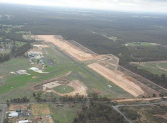 The redevelopment of Bendigo Airport as of May 2016