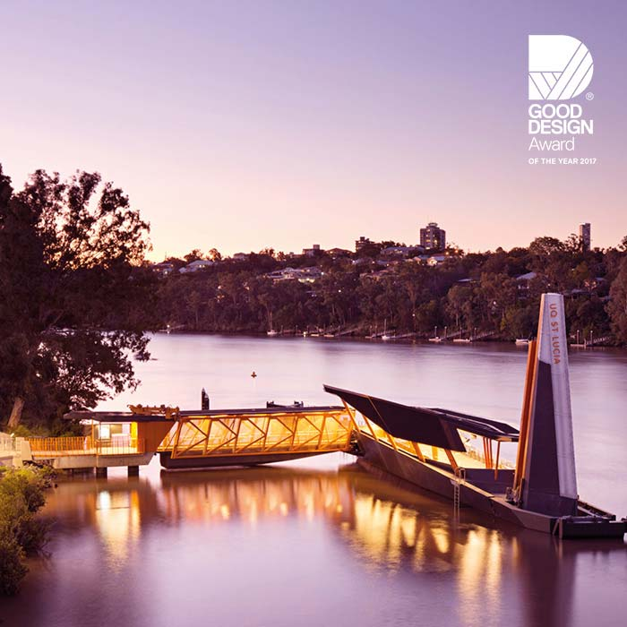 Design innovation by Aurecon and Cox Architecture delivered a new generation of flood resilient, accessible ferry terminals.