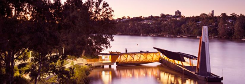 University of Queensland Ferry at dusk