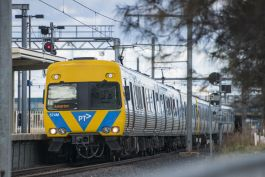 The construction of Geelong Fast Rail will deliver faster train journeys between Geelong and Melbourne. Image courtesy of Rail Projects Victoria.