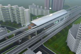 Jurong Region Line, Singapore's first fully elevated rail line, is set to be the largest commercial hub outside the Central Business District. Image courtesy of ONG&ONG.