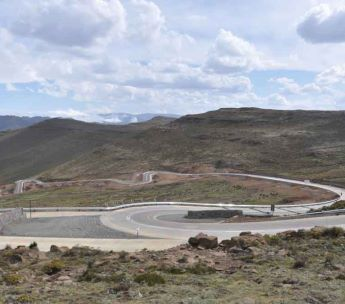 New Mokhotlong and Sani Pass road has run off areas at dangerous curves for safety