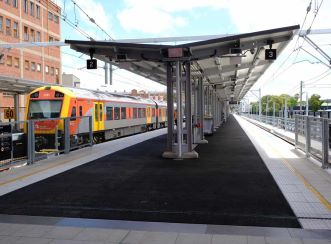 Newcastle Interchange involved the truncation of the Newcastle heavy rail line and design and construction of a new station and public transport hub
