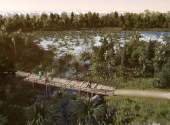 Aurecon used digital engineering tools to compose interactive exhibits that brought to life Regenerate Christchurch's Otakaro Avon River Corridor