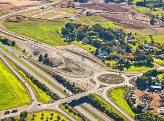 The Drury Interchange project includes developing a third lane to supports the communities by new local road connections and better transport.