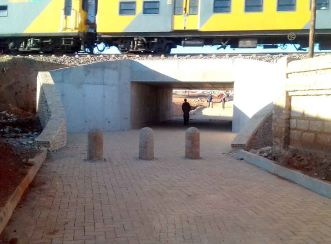 The Tembisa underpasses improve the safety of pedestrians and cyclists in the area.