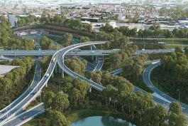 New M5 St Peters Interchange - Artist Impression