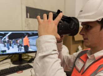 Virtual reality software and hardware for Wynyard Station testing