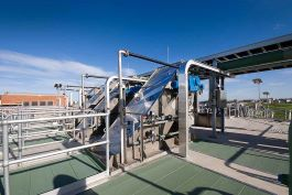 Glenelg Wastewater Treatment Plant - Inlet works screens and covered bypass channel