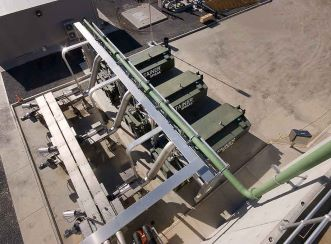 Glenelg Wastewater Treatment Plant - Overhead view of screenings handling plant