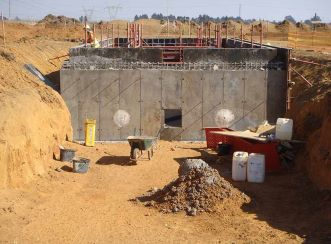 Construction of the pump station at the Middleburg Water Reclamation Project