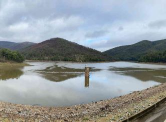 View of the Dungowan Dam. Along with the knowledge and experience of WaterNSW, the joint venture between Aurecon and KBR is providing additional expertise, technical sophistication and capacity to oversee the delivery of multiple major projects.