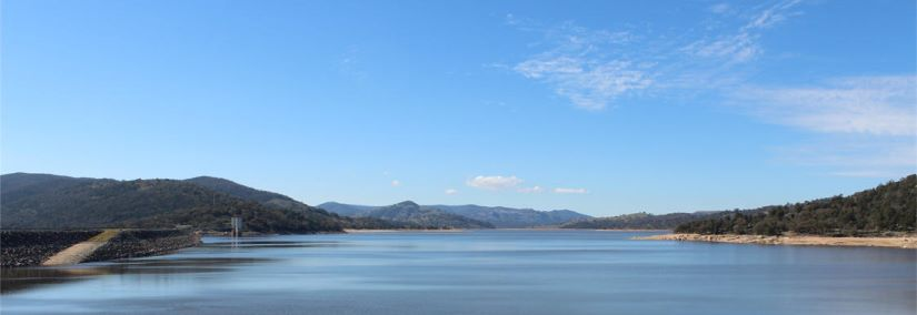 View of the Wyangala Dam in New South Wales, where Aurecon and KBR partnered with WaterNSW to boost the region's water security.