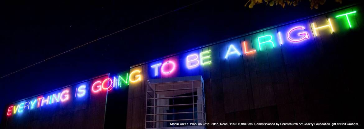 Martin Creed, Work no 2314, 2015. Neon. 146.8 x 4600 cm. Commissioned by Christchurch Art Gallery Foundation, gift of Neil Graham