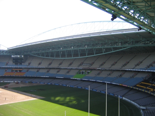 A photo of Melbourne's Etihad Stadium's retractable roof