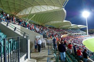 A picture of the Adelaide Oval's Bradman Grandstand