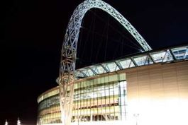 A photo of Wembley Stadium