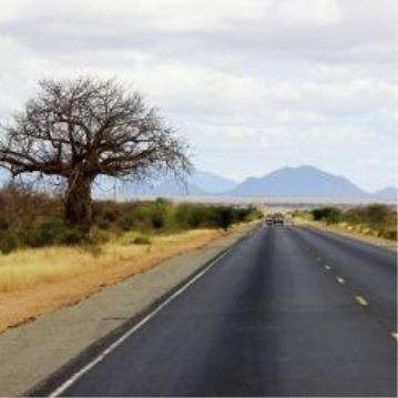 A photo of a road in Africa