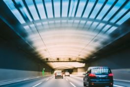 Cars in a tunnel