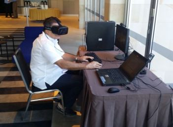 Giam Swiegers with Oculus Rift