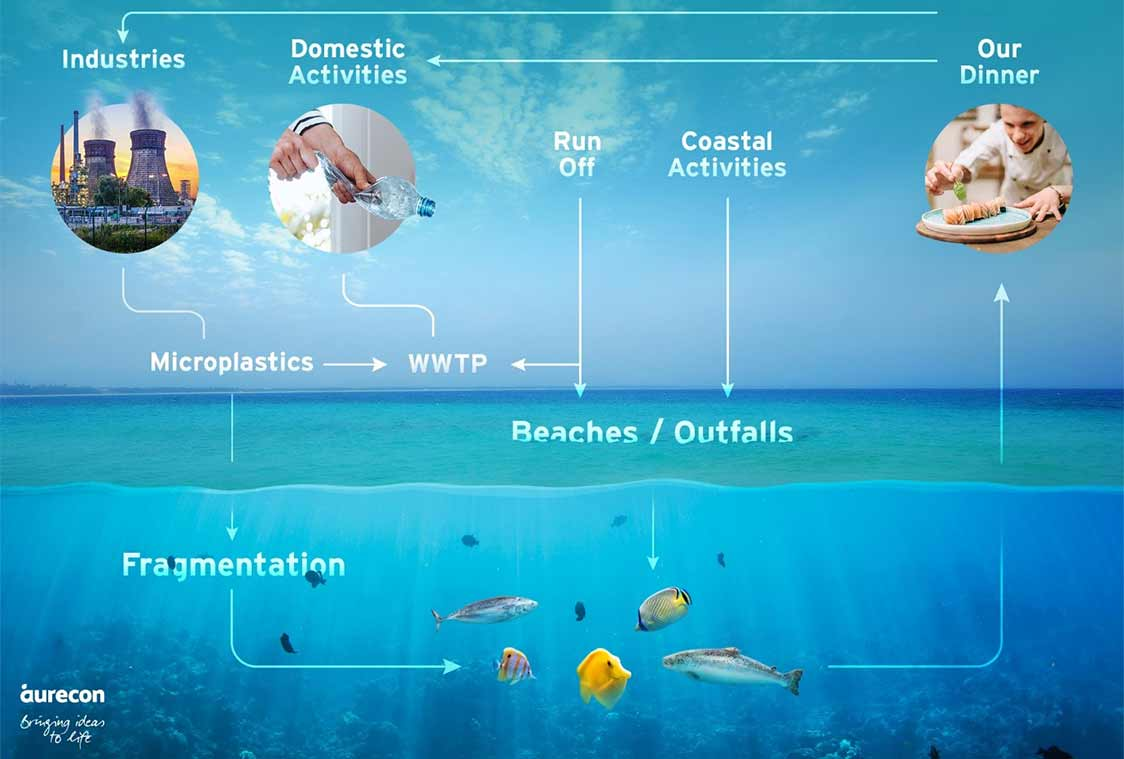 Microplastics make their way into the oceans and waterways through wastewater treatment plants