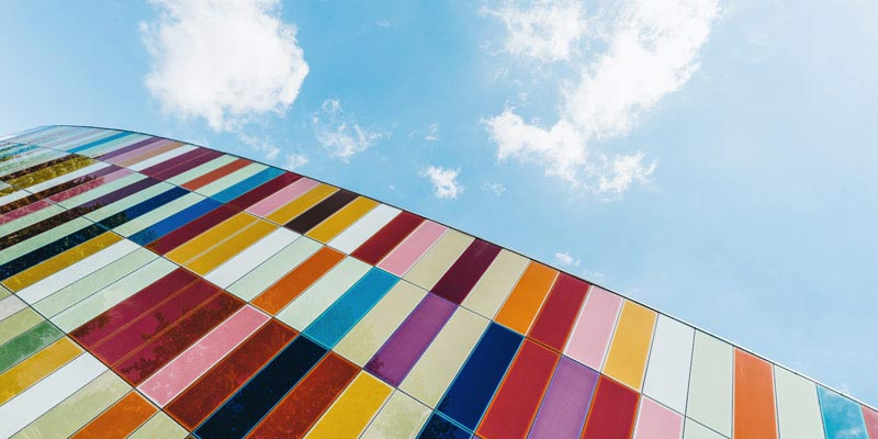 Colourful building – Photo by Scott Webb on Unsplash