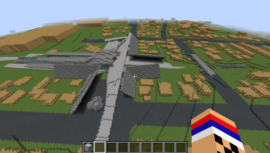 Minecraft output: Minecraft is a game-simulated application to encourage interactive engagement based on building or discovery.