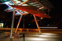 Night shot at Kelvin Grove Urban Development