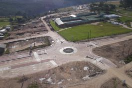 Traffic circle on Nelson Mandela Boulevard - major construction milestone on time and on budget for the people of George