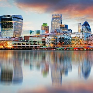 Supplied – London on Thames at dusk
