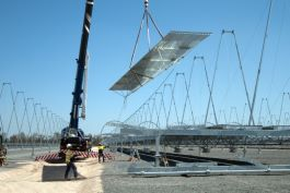 Construction of Kogan Creek Solar farm
