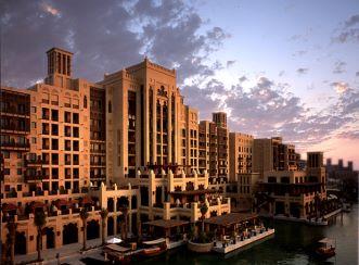 Madinat Jumeirah Resort - Dusk view