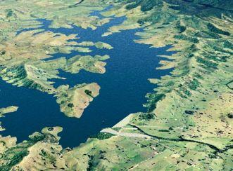 Tillegra Dam - Aerial view