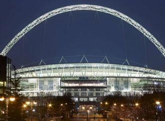 Wembley stadium - at night