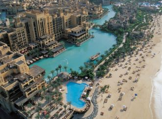 Madinat Jumeirah Resort - Aerial beach view