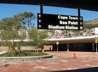 Pedestrian wayfinding signs - Granger Bay Boulevard and Green Point Roundabout Traffic Circle