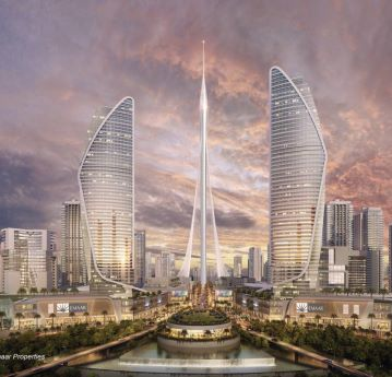The Tower at Dubai Creek Harbour - Image courtesy of Emaar Properties