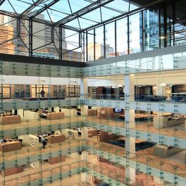 5 Martin Place, Australia: The newly created atrium.