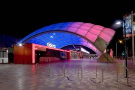 Adelaide Entertainment Centre redevelopment - At night